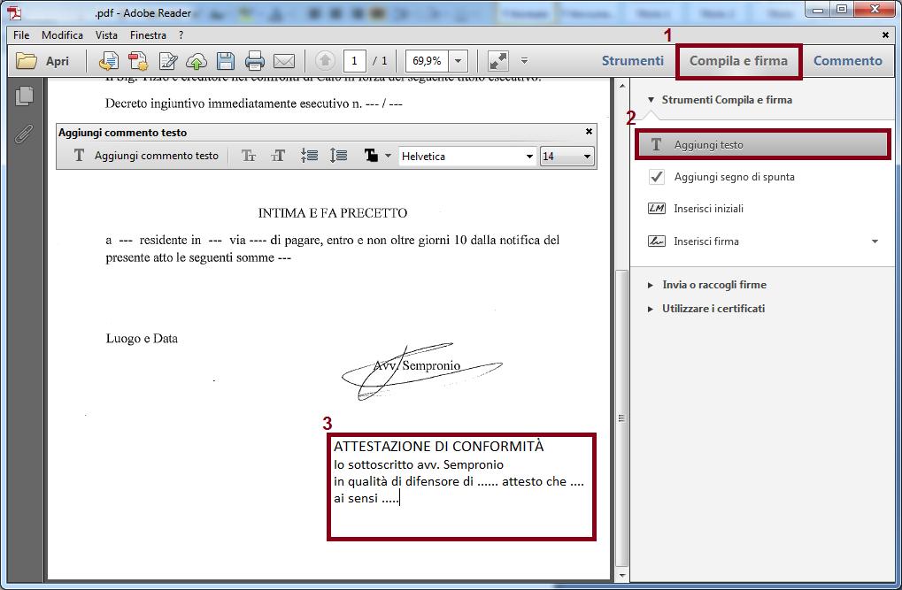 Processo civile telematico it procedure esecutive e for Dichiarazione di missione adobe