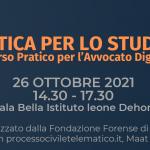 Informatica per lo studio legale: corso pratico per l'Avvocato Digitale. Monza, 26 ottobre 2021